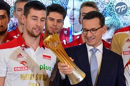 Spotkanie Premiera Mateusza Morawieckiego z Mistrzami Świata w Piłce Siatkowej Mężczyzn 2018.
